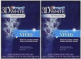 Crest 3D Whitestrips Classic Vivid Teeth Whitening Kit, 12 Count (Pack of 2)