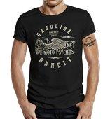 GASOLINE BANDIT® - Camiseta - Manga Corta - para Hombre Negro XXXXL