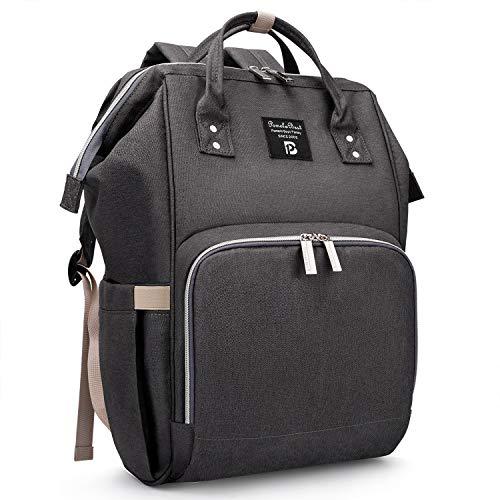 Pomelo Best luierrugzak | Kan ook als handtas en kinderwagentas gebruikt worden | Met 3 geïsoleerde flessenzakken