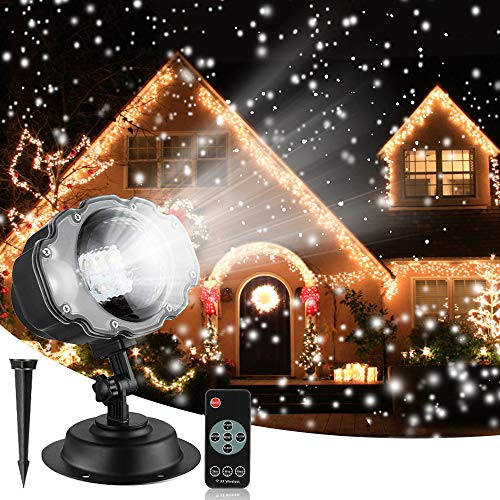 Christmas Snowfall Projector Lights, Syslux Indoor Outdoor Holiday...