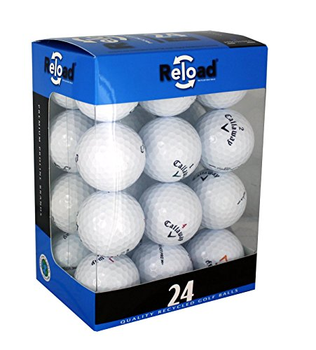 Product Image 1: Reload Recycled Golf Balls (24-Pack) of Callaway Golf Balls, One Size, White