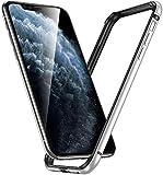 iPhone12ケース / iPhone12 Pro バンパー,アルミバンパー レンズ保護 耐衝撃 ストラップホー……