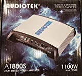 Audiotek At800S 2 Channels Class Ab 2 Ohm Stable 1100W Stereo Power Car Amplifier W/Bass Control
