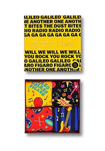 Happy Socks XQUE09-0100 - Set di calzini in confezione regalo, tema Queen, 4 pezzi, multicolore multicolore 36/40