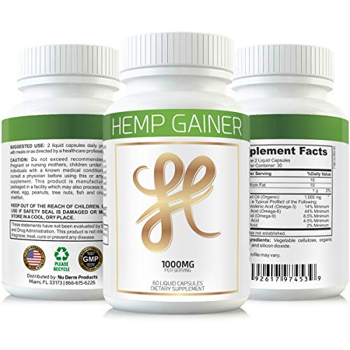 Hemp Weight Gaining Pills and Appetite Booster Will Help You GAIN Weight While You Sleep. Gain Weight Pills Help Appetite Increase Using The Weight GAIN Power of Hemp Oil. Weight Gain Pills for Women 4