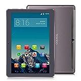 TOSCIDO 4G LTE Tablet 10 Zoll - Android 9.0 Zertifiziert von Google GMS,4GB RAM,32GB ROM+32GB TF Card ,Octa Core 2 GHz CPU schnelle Geschwindigkeit,Dual SIM,WiFi,Dual Stereo Lautsprecher - Grau