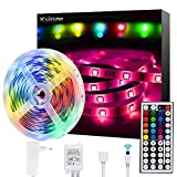 Ksipze Ruban LED 5M Bande LED 5050 RGB Multicolore,bandeau led avec...