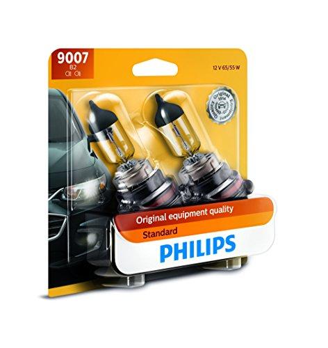 Philips 9007B2 Standard Halogen Replacement Headlight Bulb, 2 Pack
