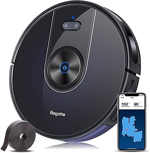 Bagotte Aspirateur Robot Laveur de Sol Puissante 2200 Pa, 3 en 1 Robot Aspirateur Connecté Wi-FI,...