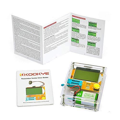 KOOKYE Mega328 Transistor Tester Diode Triode Capacitance ESR Meter