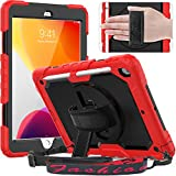 Timecity iPad 10.2 Case, 2020/2019 iPad 8th/ 7th Generation Case with Screen Protector Pencil...