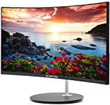 Sceptre NEW 24' Curved 75Hz Gaming LED Monitor Full HD 1080P HDMI VGA Speakers Ultra Thin Machine Black 2020