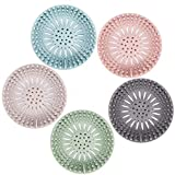Hair Catcher Durable Silicone Hair Stopper Shower Drain Covers Easy to Install and Clean Suit for Bathroom Bathtub and Kitchen 5 Pack