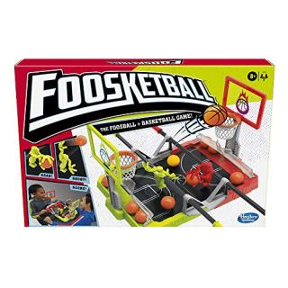 Hasbro Gaming Foosketball Game, The Foosball Plus Basketball Shoot & Score, Tabletop Game, Ages 8 & Up, 2 Players,Plastic,Multicolor