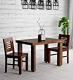 Furnifab Sheesham Wood 2 Seater Dining Table Set with Chairs for Living Room