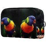 Bolsas de Aseo Color Loro Hermano Hombres y Mujeres Bolsa de Almacenamiento de Viaje Suave al Tacto de Impresa Personalizada 18.5x7.5x13cm