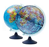 Exerz Globe Terrestre Lumineux 21 cm avec éclairage LED / sans câble / Jour et...