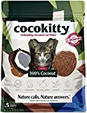 ECOABSORB Coconut Cat Litter - Flushable Hypoallergenic Lightweight Kitty Litter - Odor Free, Natural, Biodegradable - CocoKitty