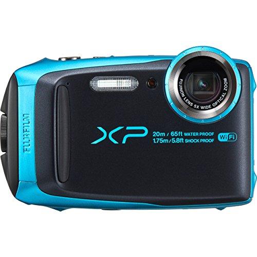 Fujifilm XP-120 - Sky Blue, Cámara acuática de 16.4 MP (pantalla de 3', estabilizador...