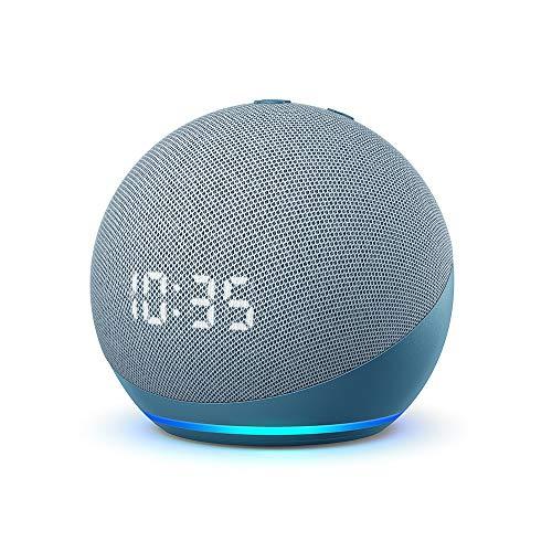 Echo Dot (4 generazione) - Altoparlante intelligente con orologio e Alexa - Ceruleo