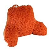 Home Soft Things Shaggy Bed Pillow, Bedrest, 20' x 18' x 17', Burnt Orange