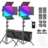 Neewer Lumière vidéo à LED RGB avec contrôle APP, 360°F Couleur, 50W 660...