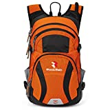 ROCKRAIN WindSeeker Insulation Hydration Cycling Backpack Pack with 2.5L BPA Free Leak Proof Water Bladder, Sufficient Storage Space for Outdoor Gear, for Cycling (Orange)