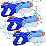 Quanquer Water Guns for Kids, 3 Pack Super Water Blaster Soaker Squirt Guns 600CC High Capacity...