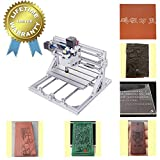 Upgrade Version CNC 2418 Pro Router Kit GRBL Control 3 Axis Plastic Acrylic PCB PVC Wood Carving Milling Engraving Machine, XYZ Working Area 240x180x50mm (ER11 10PCS Router Bits CNC Router Machine)
