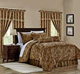 Chezmoi Collection Adelle 7-Piece Paisley Jacquard Embroidered Comforter Bedding Set, King Size