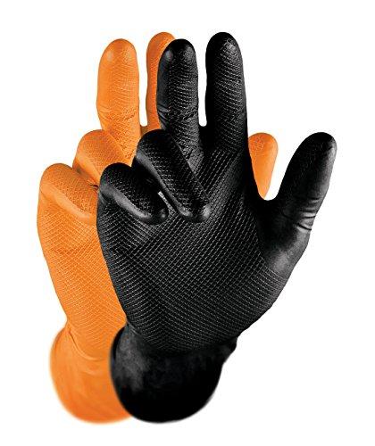 Grippaz 246, guanti protettivi in nitrile, guanti da lavoro Nero, taglia: XL (50 pezzi)