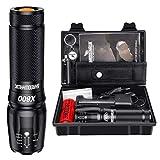 Shadowhawk X800 Lampe de poche LED CREE ultra lumineuse, 4000 lumens, lampe...