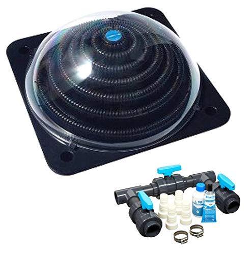 well2wellness® Pool Solarheizung Poolheizung Solar \'Powerkugel\' Plus Bypass-Set Basic (023920)