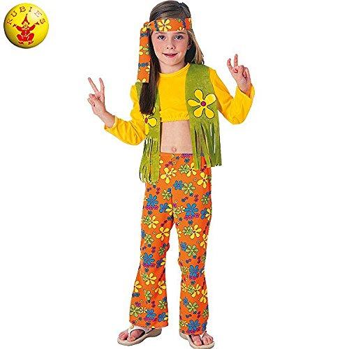 Rubie's - Disfraz de hippie para niña, 5-7 años (38692-M)