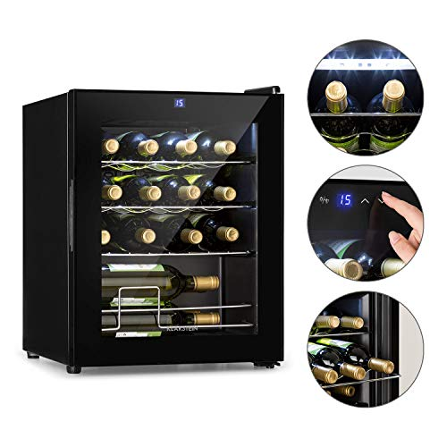 KLARSTEIN Shiraz Slim - Frigorifero per Vini, Cantinetta, Classe Energetica A, 5-18 C, 42 dB,...