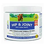 Glucosamine Chondroitin Advanced Hip & Joint Supplements for Dogs, Organic Turmeric, MSM for Dogs, Concentrated Extra Strength Naturally Based Formula by DakPets,120 Soft Chews, Made in USA