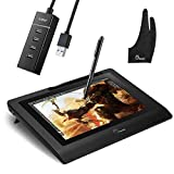 Parblo Coast10 10.1' Digital Pen Tablet Display Drawing Monitor 10.1 Inch with Cordless and Battery-Free Pen+ 4ports USB3.0 Hub+ Glove