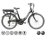F.lli Schiano E-Moon Vélo électrique Unisex-Adult, Noir, 26'