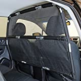 Bushwhacker - Deluxe Dog Barrier 56' Wide - Ideal for Trucks, Large SUVs, Full Sized Sedans - Pet Restraint Car Backseat Divider Vehicle Gate Cargo Area Travel Trunk Mesh Net Screen Barricade