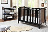 Suite Bebe, Brees Convertible Island Crib in, Black and Vintage Walnut