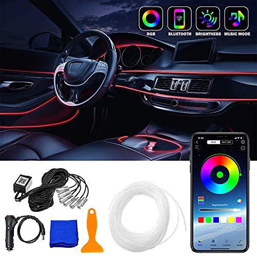 Sheng Ou Striscia LED Auto Interni,LED Neon Auto Interni,LED Rgb per Auto,LED Auto Interni Striscia,Luci Interne per Auto Striscia,Illuminazione Interni Auto LED,Striscia LED Auto (1V6)