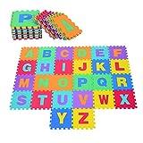 HOMCOM 26 Piezas Alfombra Puzzle para Niños 31x31 cm Colchoneta Suave 2,41 m² Juego Rompecabezas...