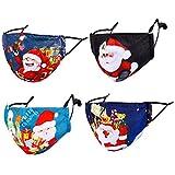 Reusable Face Mask Christmas Santa Xmas Cloth Women Men Blue Pretty Funny Breathable Designer Winter...