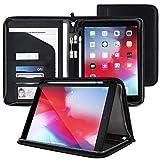 rooCASE Wilshire Case - iPad 9.7 2018/2017 Executive Portfolio Case - Magnetic Detachable iPad Case, Organizer, Apple Pencil Holder for iPad 9.7 6th Gen/5th Gen, Black