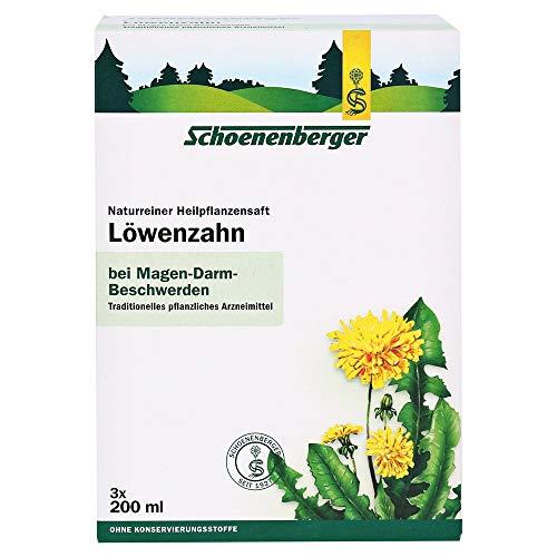 Schoenenberger Löwenzahn naturreiner Heilpflanzensaft, 3x200 ml Lösung