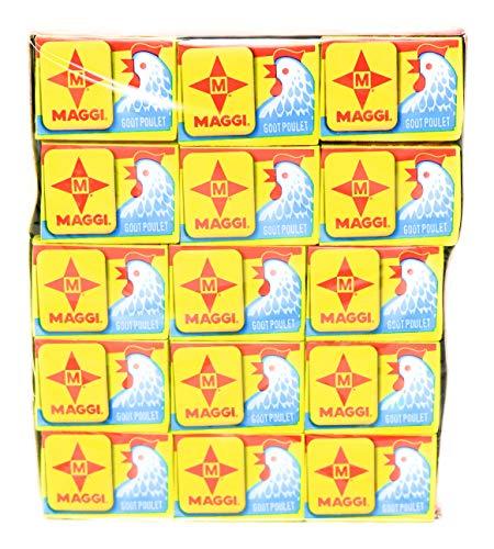 Maggi Paquete de cubitos de pollo Boullion Halal de 1 x 60 x