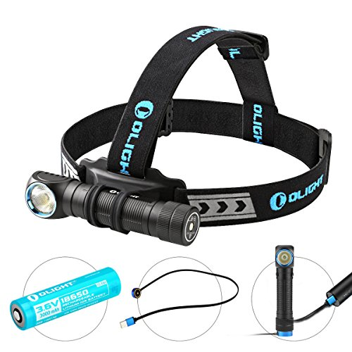 Olight Rechargeable 18650 Headlamp Flashlight H2R, Supper Strong Cool White LED 2300 Lumens, Multifunctional Head Torch for Outdoors and Indoors