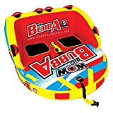 WOW World of Watersports, Big Bubba Hi Visibility Towable Tube Deck Seat, Front and Back Tow Points, 1-2 Riders