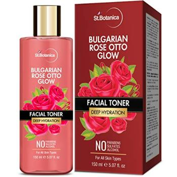 StBotanica Bulgarian Rose Otto Glow Deep Hydration Facial Toner | Deep Hydration | No Paraben, SLS & Alcohol - 150ml