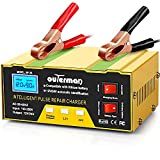Outerman Battery Charger 12V 24V Lithium Car Battery Charger, Automatic Smart Battery Maintainer for Car Boat Motorcycle Lawn Mower Lead Acid Battery or Lithium Battery Capacity: 6AH~105AH